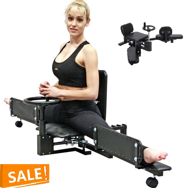 Leg Stretcher Machine Steel Frame Leg Stretcher Leg Stretch Training Supplies Leg Splitter Gym Gear Fitness Equipment