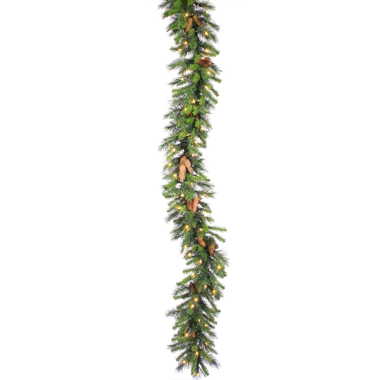 6' Pre-Lit Cheyenne Pine Artificial Christmas Garland - Clear Lights