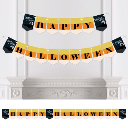 Trick or Treat - Halloween Party Bunting Banner - Orange Party Decorations - Happy Halloween - Happy Halloween Day Trick Or Treat