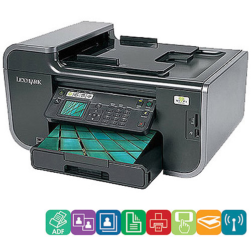 Lexmark Prevail Pro705 Wireless All-In-One (AIO) Inkjet Printer/Copier/Fax Machine/Scanner; w/Duplex & Network; Refurbished