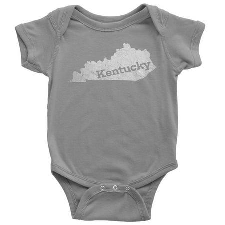 12-18 Months / Gray Kentucky Baby Bodysuit Home - Shirt Bodysuit Baby