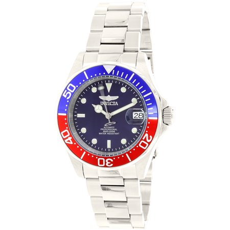 Men's Pro Diver 5053 Silver Stainless-Steel Plated Automatic Self Wind Diving Watch Bezel Automatic Dive Watch