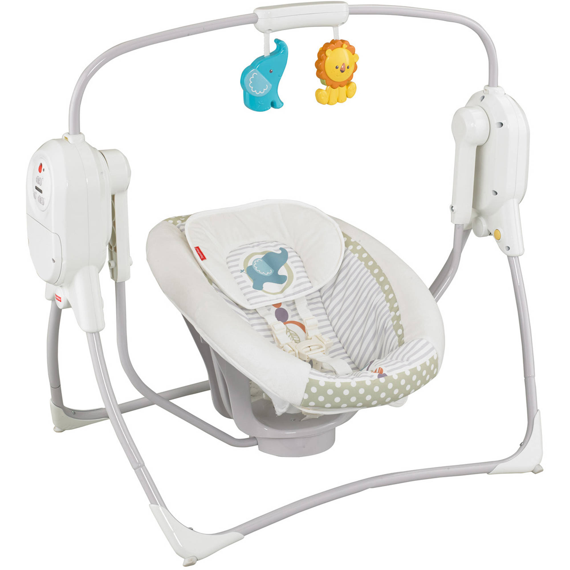 Fisher-Price SpaceSaver Cradle & Swing, White