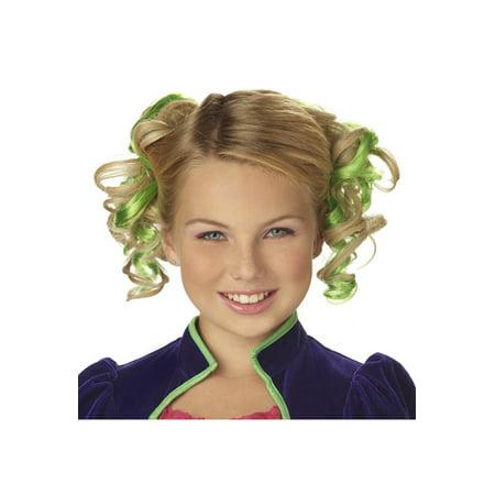 Green Curly Hair Combs Teen Halloween Costume Accessory - Halloween Hair Accessories Uk