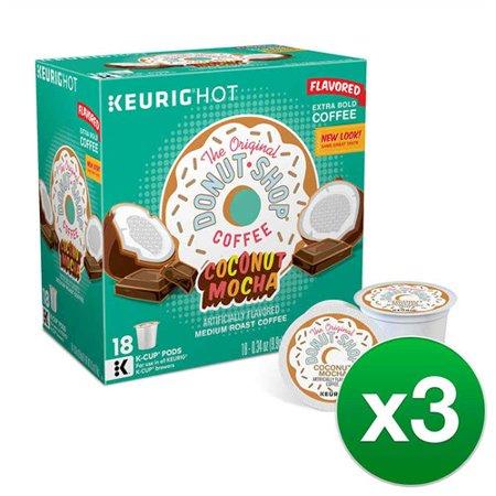 The Original Donut Shop Coconut Mocha Keurig K-cup Pods, Flavored Coffee, 54