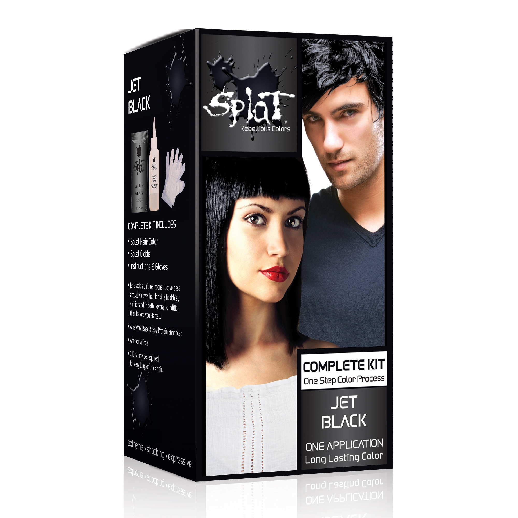 Splat 30 Wash Hair Dye Kit, Semi-Permanent, Blue Envy Hair Color ...