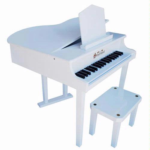 Schoenhut 37 Key White Concert Grand Piano