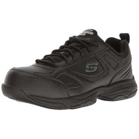 Skechers DIGHTON FRIDLEY Womens Black Slip Resistant EH Steel Toe Comfort Work Shoes