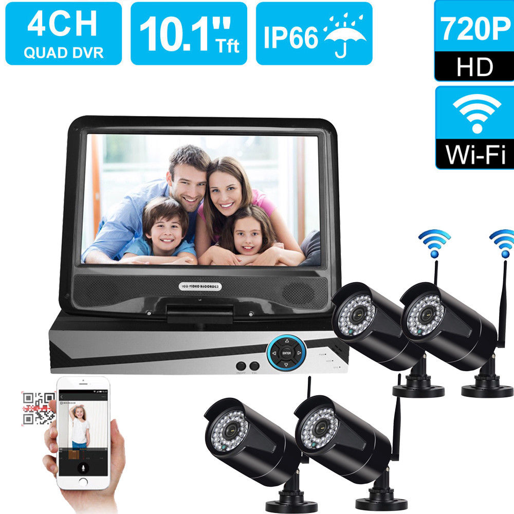 Zimtown Wireless 4CH 720P Home Security Baby Monitor NVR System Kit With 4Pces IR Camera Without Hard Drive by Zimtown