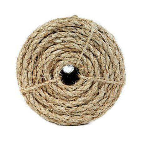 5300836 1/4 by 100-Feet Sisal Twisted 3 Strand Rope, Natural, 1/4-Inch diameter, 100-Feet length By Koch