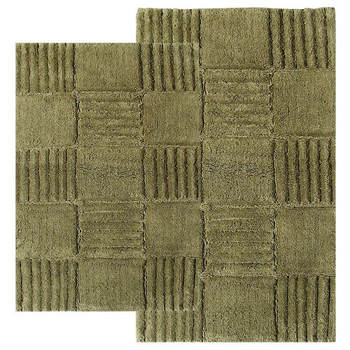 Checkerboard 2pc Bath Rug Set