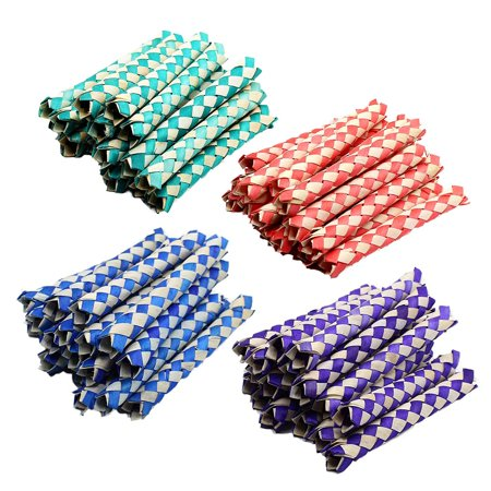 Chinese Finger Traps 5 Inches - Pack Of 72 - Cool Chinese Finger Trap – Assorted Two-Tone Colors – For Kids Great Party Favors, Bag Stuffers, Fun, Toy, Gift, Prize – By Kidsco