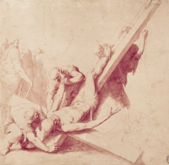 Crucifixion of Saint Peter by Jusepe de Ribera Poster Print