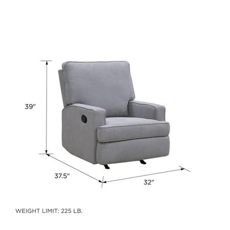 Baby Relax Salma Rocking Recliner Chair, Grey