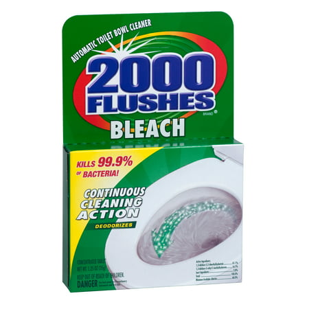 2000 Flushes Anti-Bacterial Bleach Automatic Toilet Bowl Cleaner, 35 GR