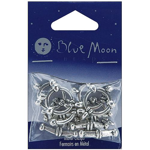 Blue Moon Plated Metal Toggle Clasps