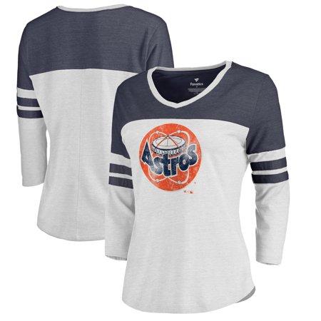 Houston Astros Fanatics Branded Women s Plus Size Cooperstown Collection  Two Tone Three-Quarter Raglan T-Shirt - White Navy - Walmart.com 7d4f3996a8