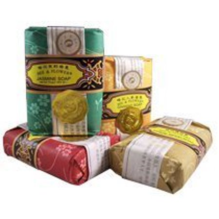 - Bee and Flower Mixed Soap 4 Pack Set - 2.65 Oz Bars (Jasmine, Rose, Ginseng, and Sandalwood)