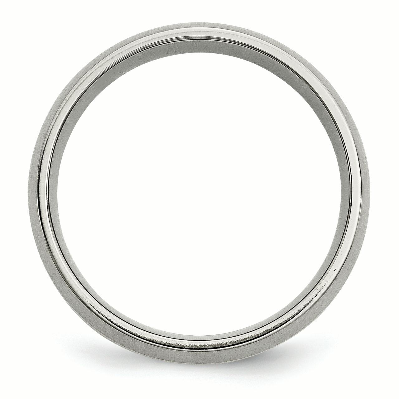 Titanium 14k Yellow Inlay 8mm Brushed Wedding Ring Band Size 8.50 Precious Metal Fine Jewelry Gifts For Women For Her - image 1 de 6