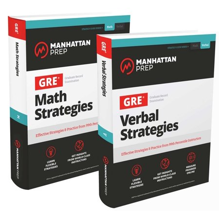 GRE Math & Verbal Strategies Set : Comprehensive Content Review & 6 Online Practice Tests from 99th Percentile