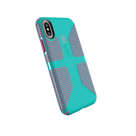 brand new 759ef 48f53 Speck CandyShell Grip Case for iPhone X, Blue and Pink