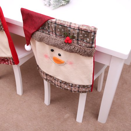 Kitchen Table Embroidered Chair Covers Christmas Holiday Home Decoration ()