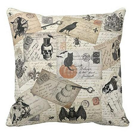 Happy Halloween Pillow Cases Linen Sofa Cushion Cover Home Decor B](Halloween B Roll)