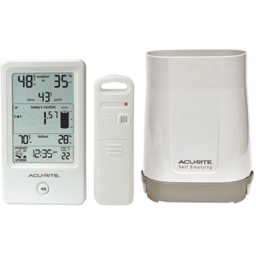 AcuRite Digital Rain Gauge with Temperature and Humidity Sensor by Rain Gauges