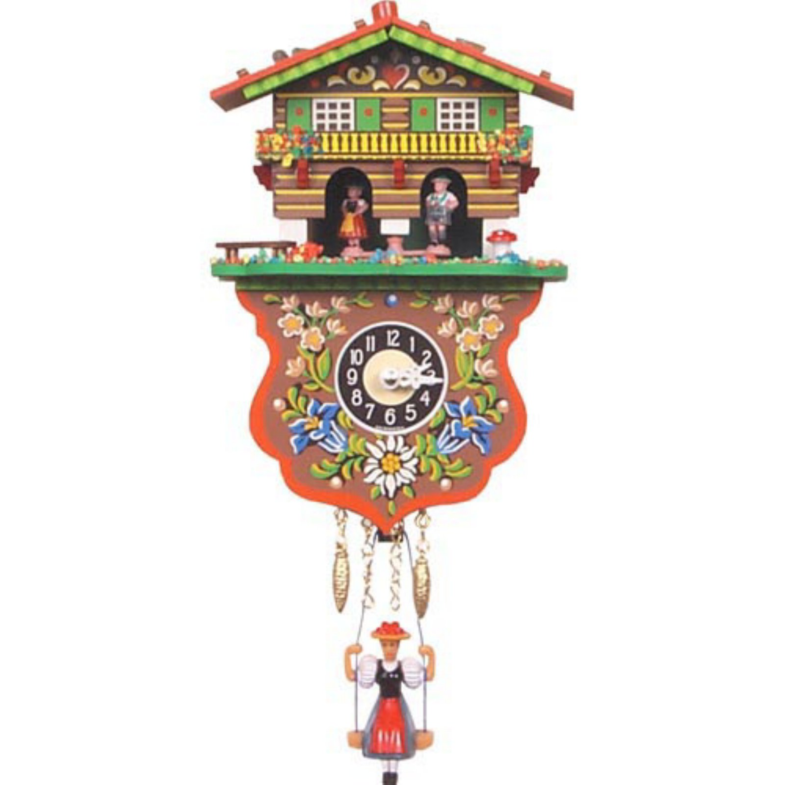 Boy and Girl Weather House Cuckoo Clock