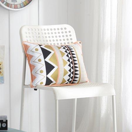 - Mainstays Geo Gold Metallic Decorative Pillow