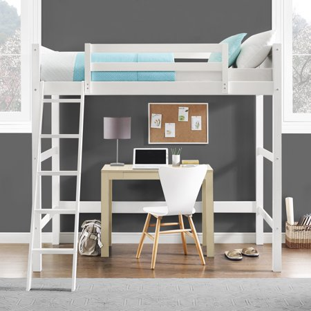 Your Zone Collection Twin Wood Loft Bed Multiple Colors