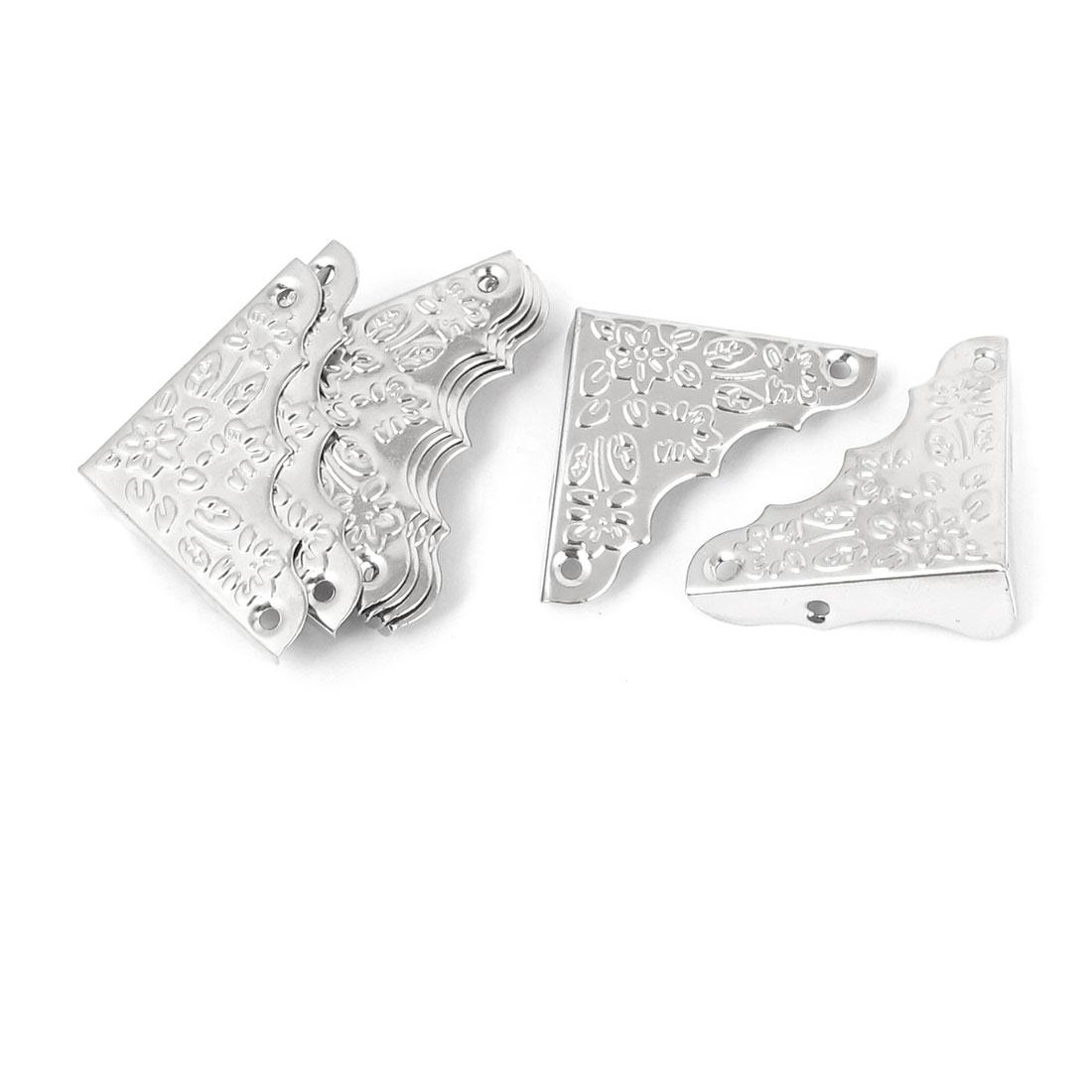 desk cover box corner angle brackets protector guard silver tone 8pcs