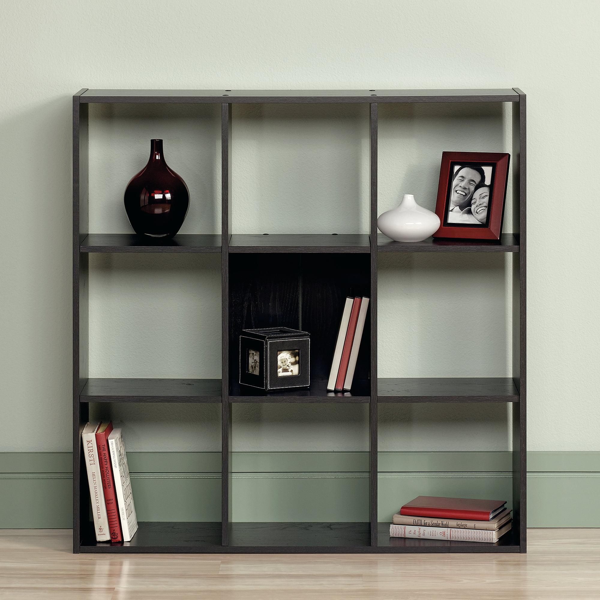 sauder beginnings organizer bookcase ebony ash walmart