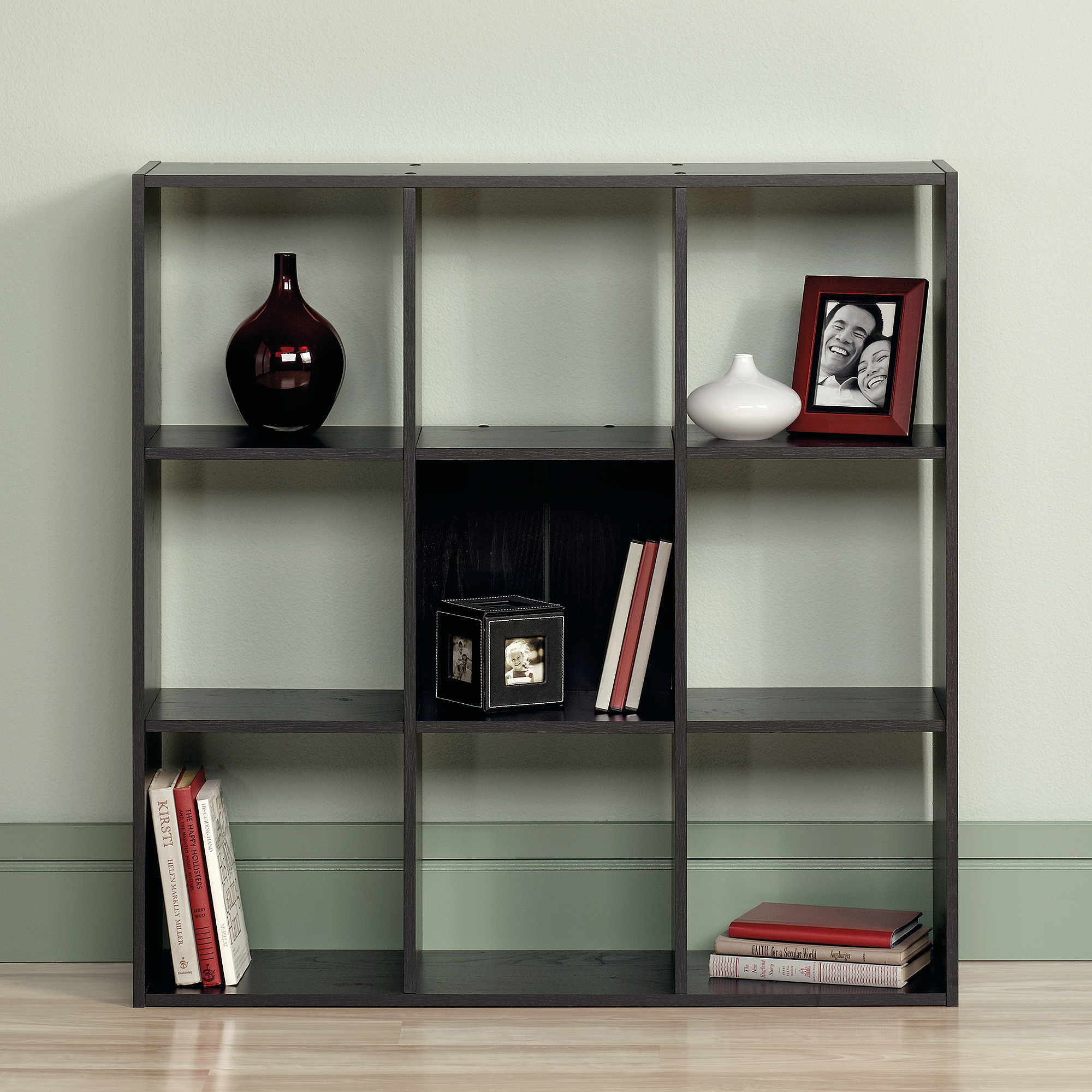 Sauder Beginnings Organizer Bookcase, Ebony Ash