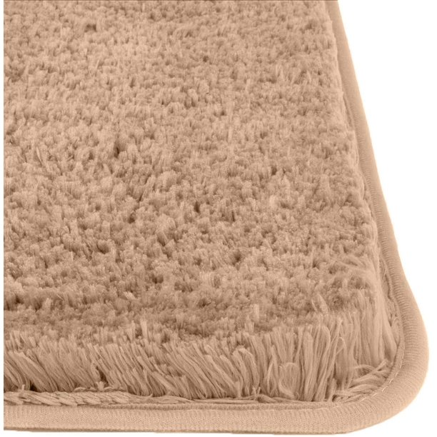 Bathroom Rugs By Luxurux Extra Soft Fluffy Plush Non Slip Shower Bath Mat Walmart Com Walmart Com
