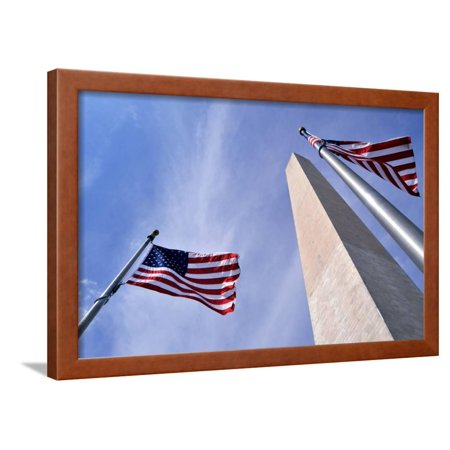 American Flags Surrounding the Washington Memorial on the National Mall in Washington Dc. Framed Print Wall Art By 1photo ()