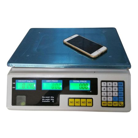 Ktaxon Digital Scale Deli Meat Food Price Computing Retail 88LB Fruit Produce Counting