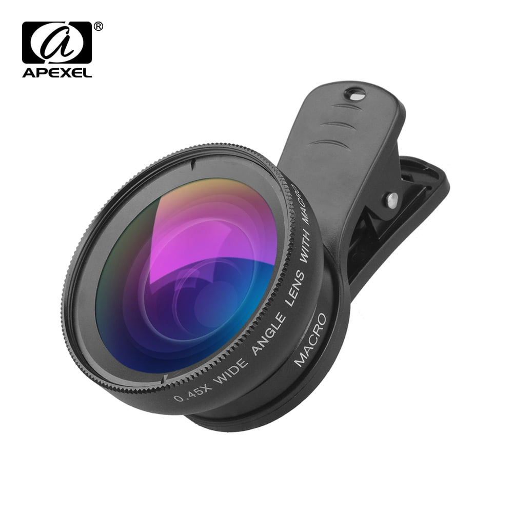 Cell Phone Camera Lens,NUT 2 in 1 Universal High Definition Macro Lens Wide Angle Lens
