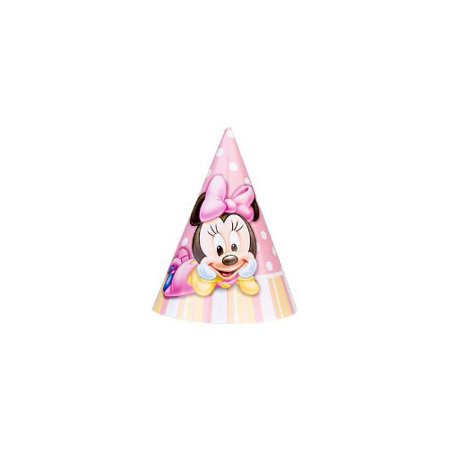 Minnies 1st Birthday Party Hats 8 Pack By Minnie Mouse
