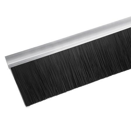 Door Bottom Sweep h-Shape Base with 4-inch Black Nylon Brush 39-inch x 5-inch - image 4 of 5