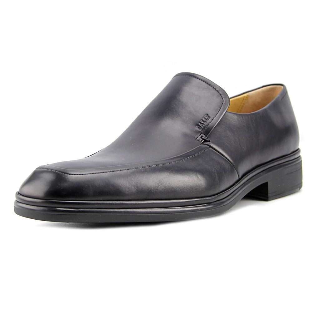 Bally Nexaro Men  Square Toe Leather Black Loafer
