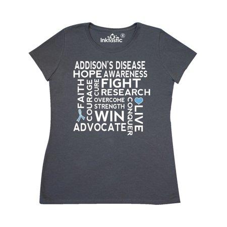 Addisons Disease Awareness Message Support Walk Women's T-Shirt