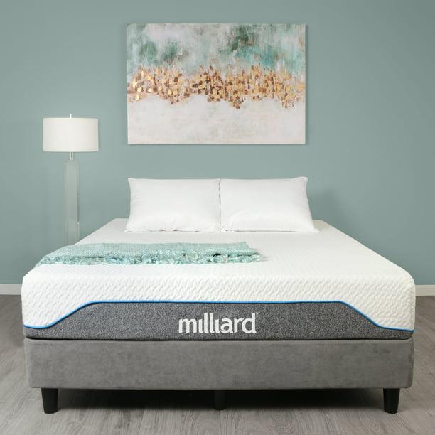 Milliard 10 inch Gel Memory Foam Mattress Medium Firm, Classic