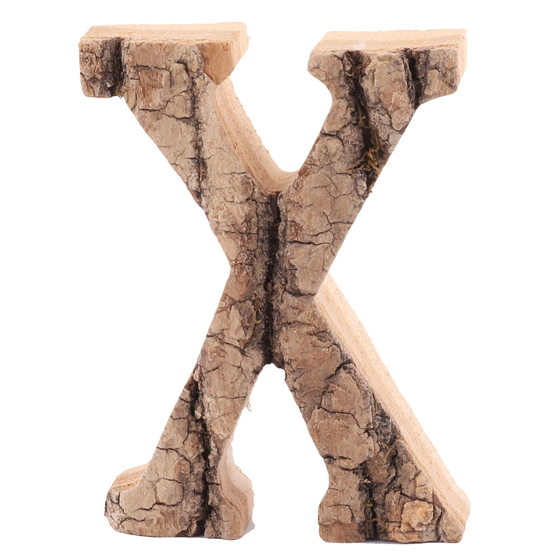 Family Street Wood X Shaped Retro Style Door Plate Letter Label Sign Wall Decor