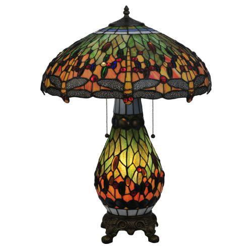 Meyda Tiffany 118845 25 H Tiffany Hanginghead Dragonfly Lighted