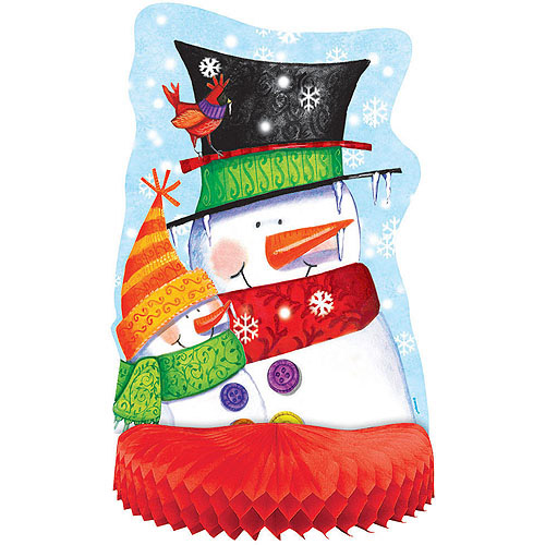 Snowman Buddies Holiday Honeycomb Centerpiece Decoration