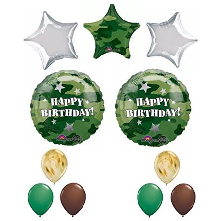 Army Military Camouflage Party Supplies Happy Birthday Balloon Set Unique Set