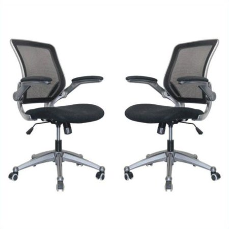 Manhattan Comfort Henderson Office Chair In Black Set Of 2 Walmart