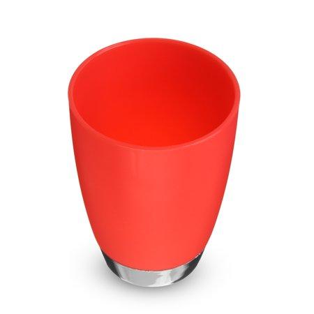 4Pcs Plastic Bathroom Accessories Set Cup Toothbrush Holder Soap Dish  - image 4 de 5