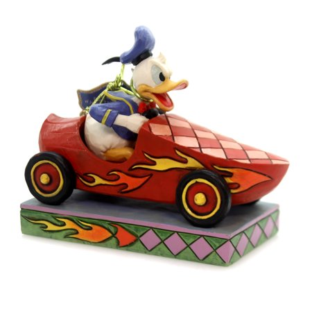 Jim Shore ROAD RAGE Polyresin Donald Duck Roadster -